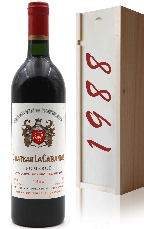Coffret Château La Cabanne 1988 Vin Rouge 75cl AOC Pomerol