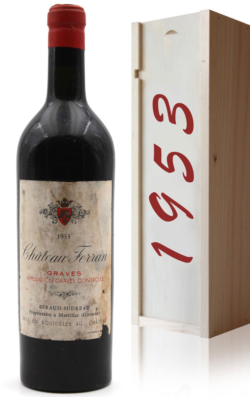 Coffret Château Ferran 1953 Vin Rouge 75cl AOC Graves