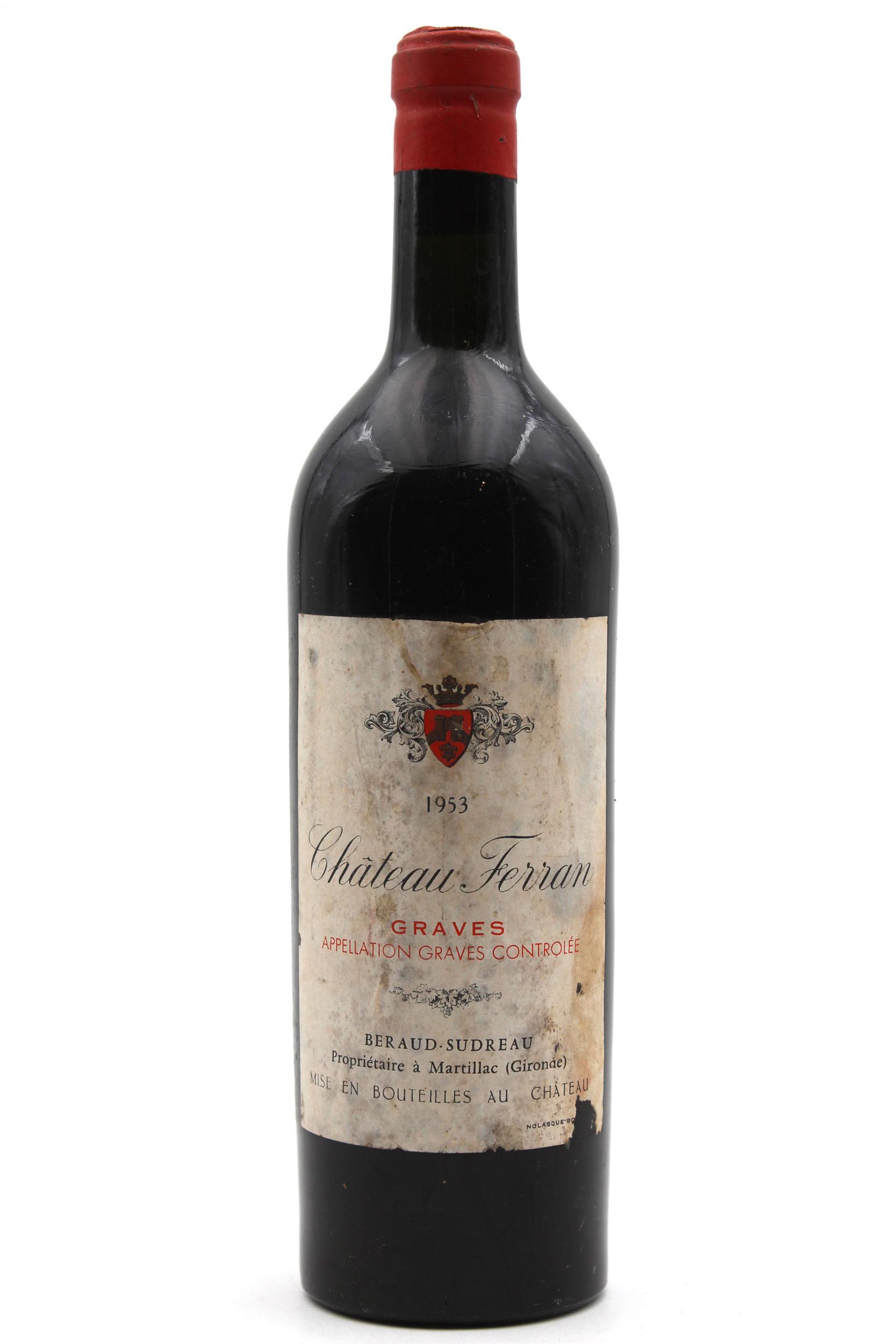 Château Ferran 1953 Vin Rouge 75cl AOC Graves