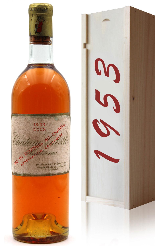 Coffret Château Gilette 1953 - vin Blanc - 75cl - AOC Sauternes