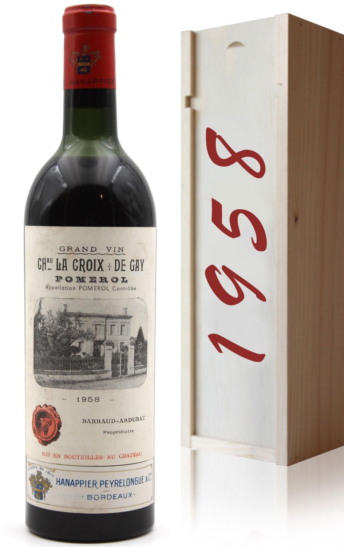 Coffret Château La Croix de Gay 1958 Rouge 75cl AOC Pomerol