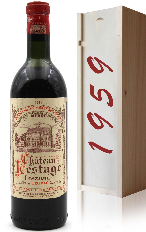 Coffret Château Lestage 1959  Rouge 75cl AOC Listrac-Médoc - Cru Bourgeois