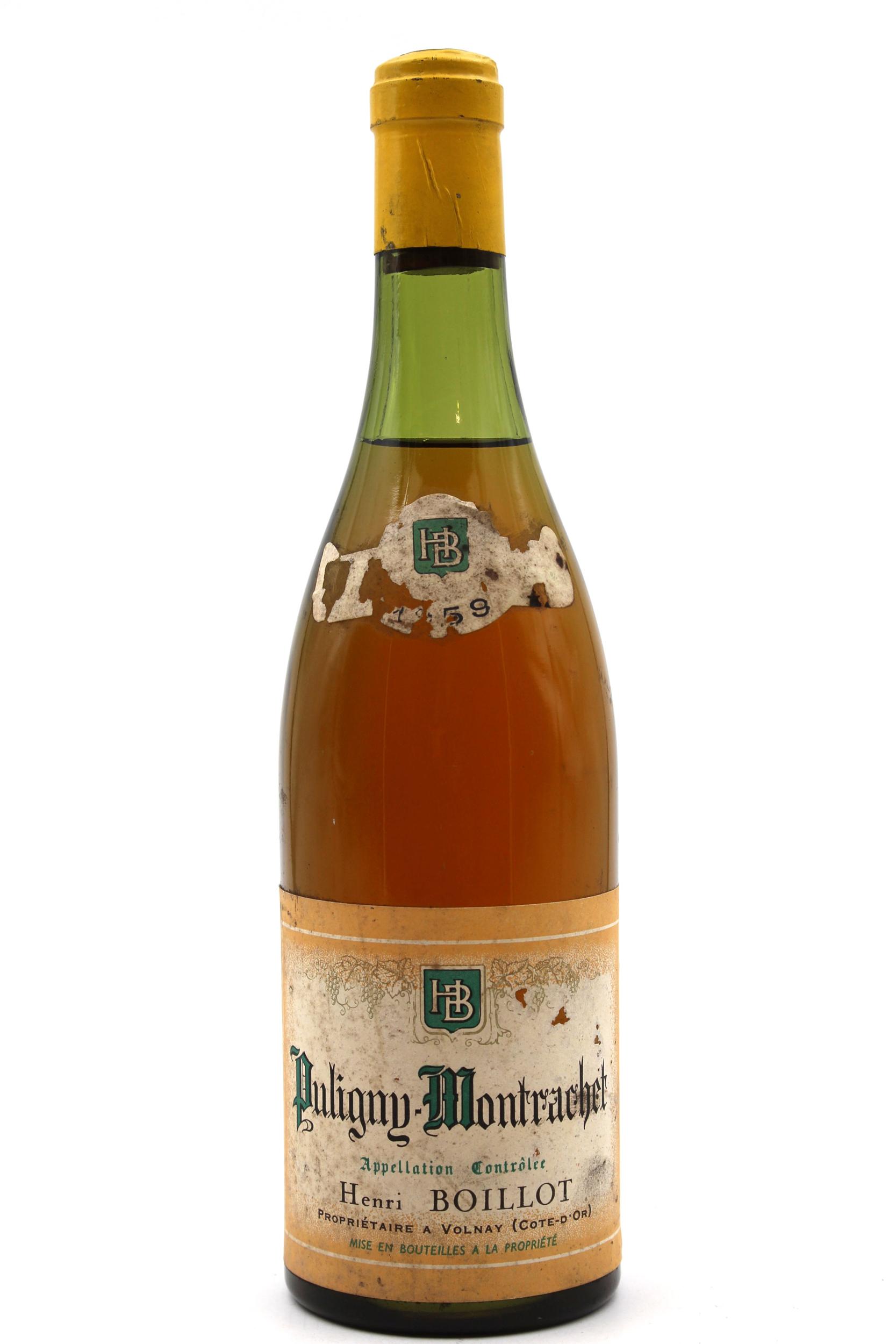 Château Puligny Montrachet Henri Boillot 1959  - Blanc - AOC - 75cl