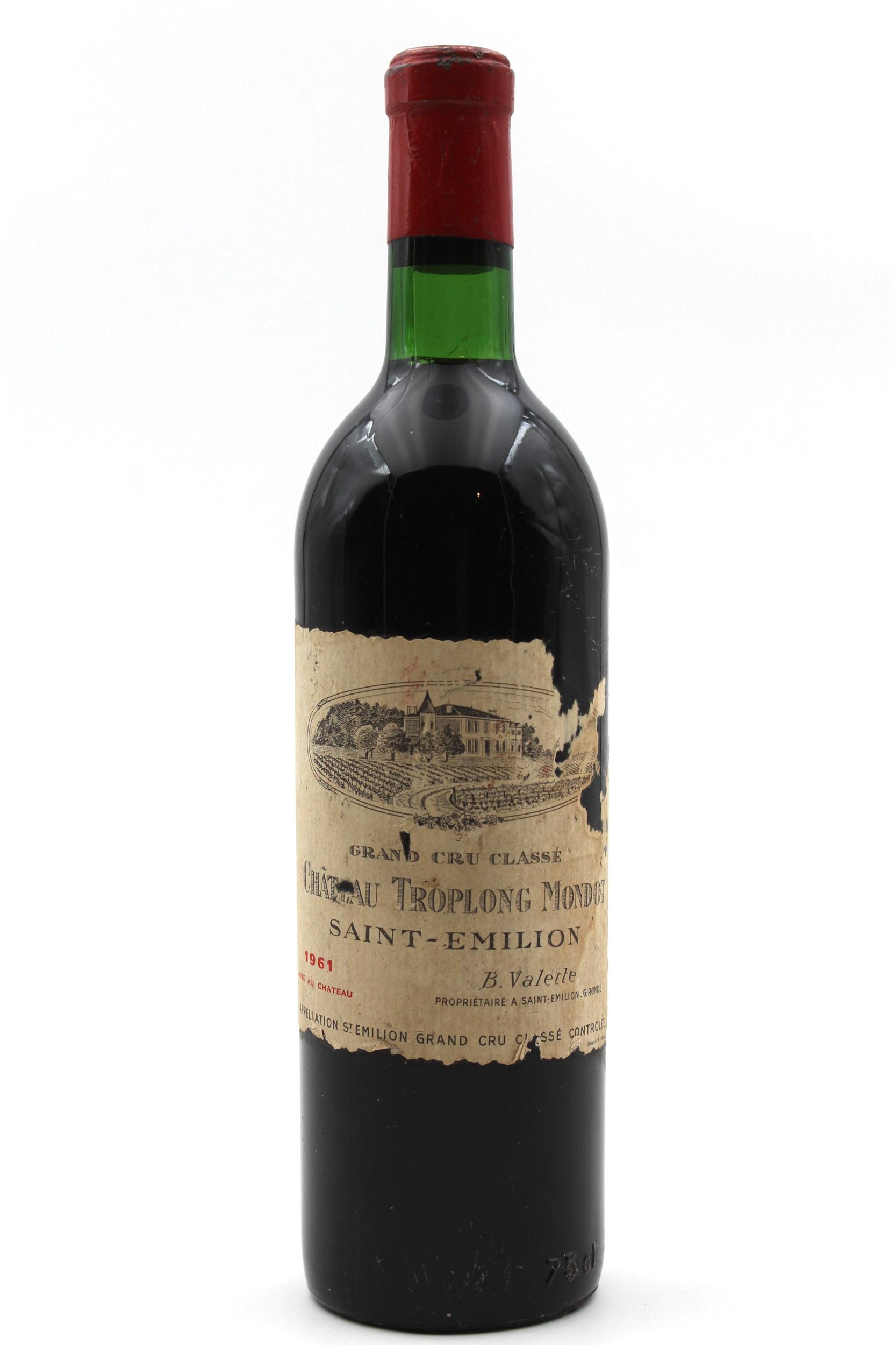 Château Troplong Mondot 1961 - Vin Rouge - 75cl - Aoc - Saint-Émilion