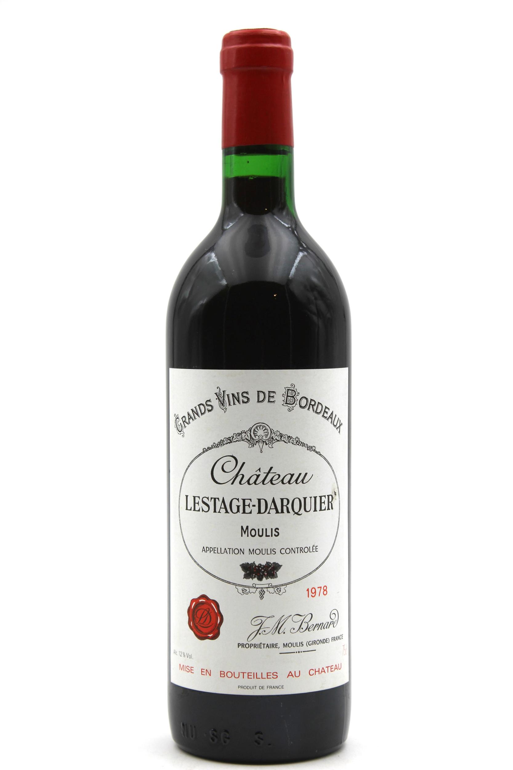 Château Lestage Darquier 1978 Rouge 75cl AOC Moulis