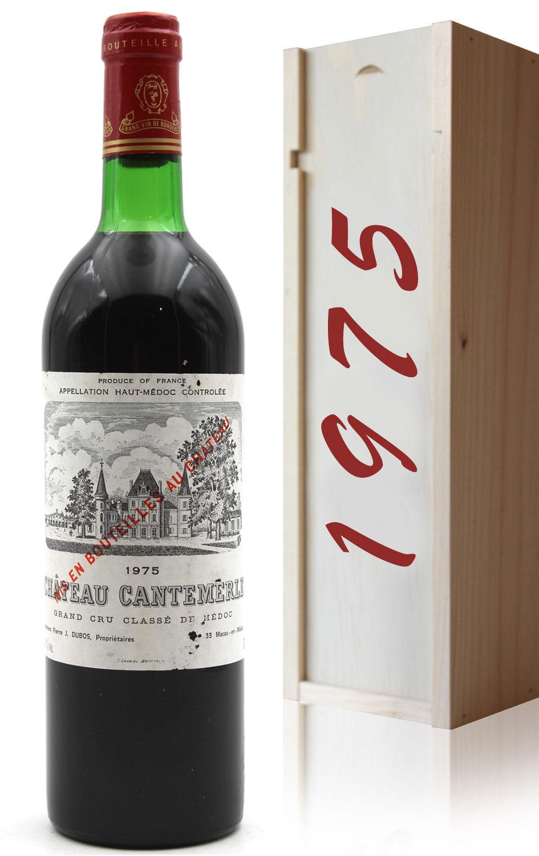 Coffret Château Cantemerle 1975  Rouge 75cl AOC Haut-Médoc