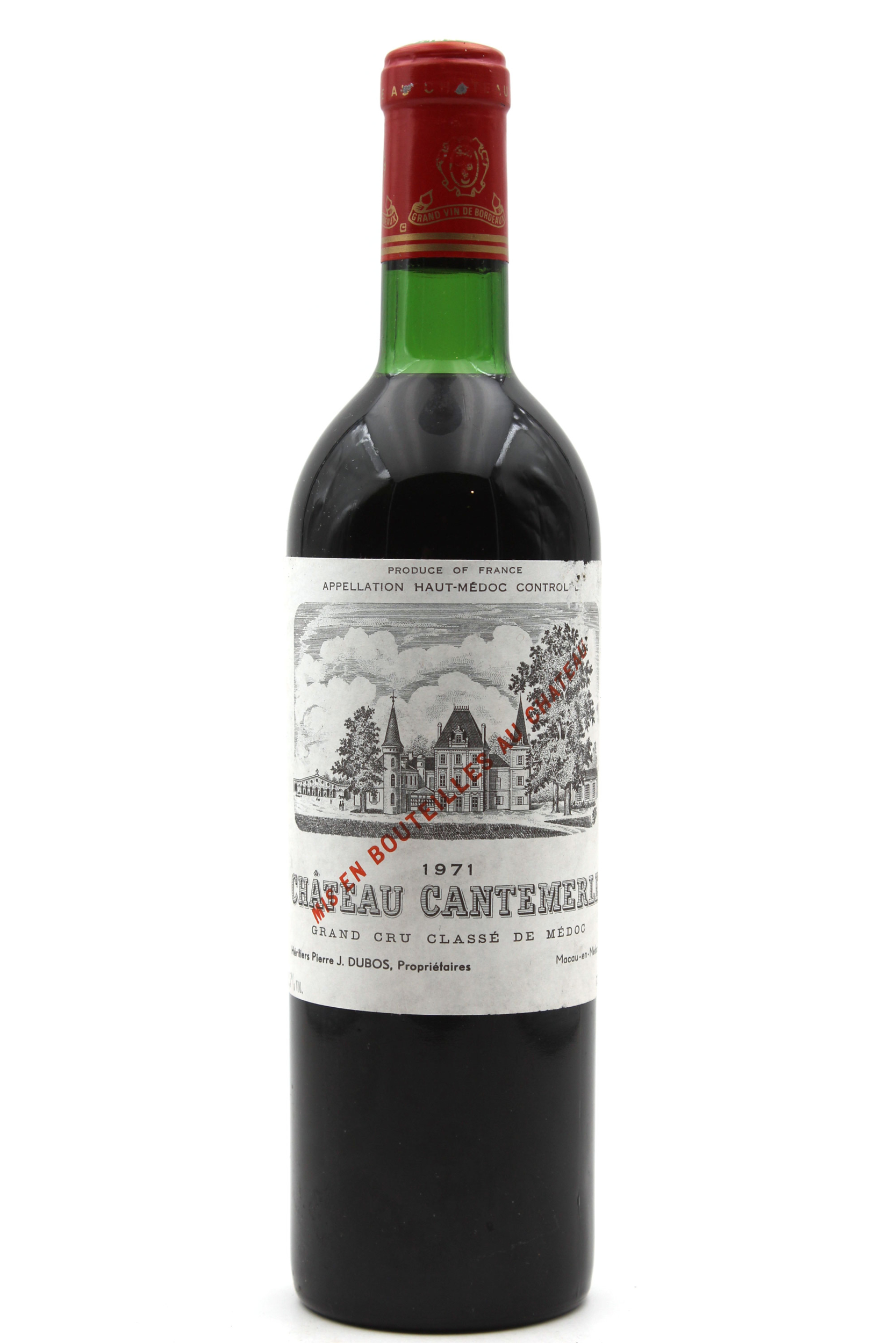 Château Cantemerle 1971  Rouge 75cl AOC Haut-Médoc