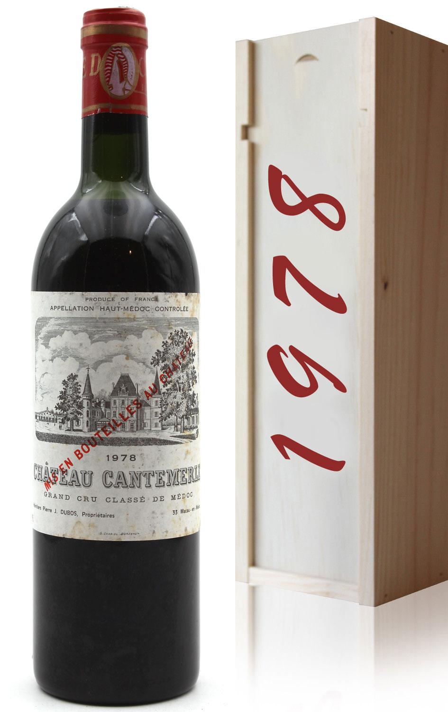 Coffret Château Cantemerle 1978  Rouge 75cl AOC Haut-Médoc