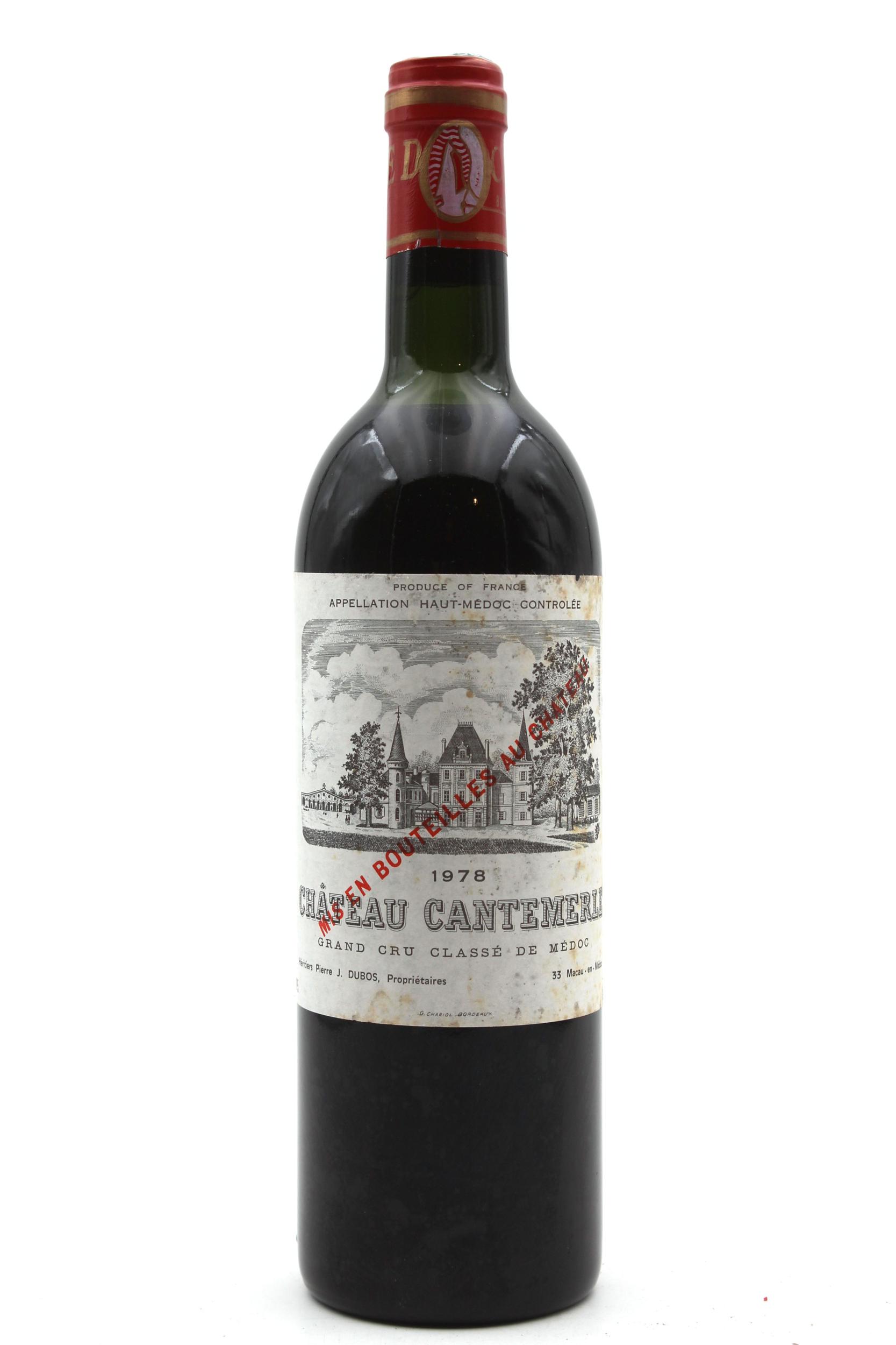 Château Cantemerle 1978  Rouge 75cl AOC Haut-Médoc