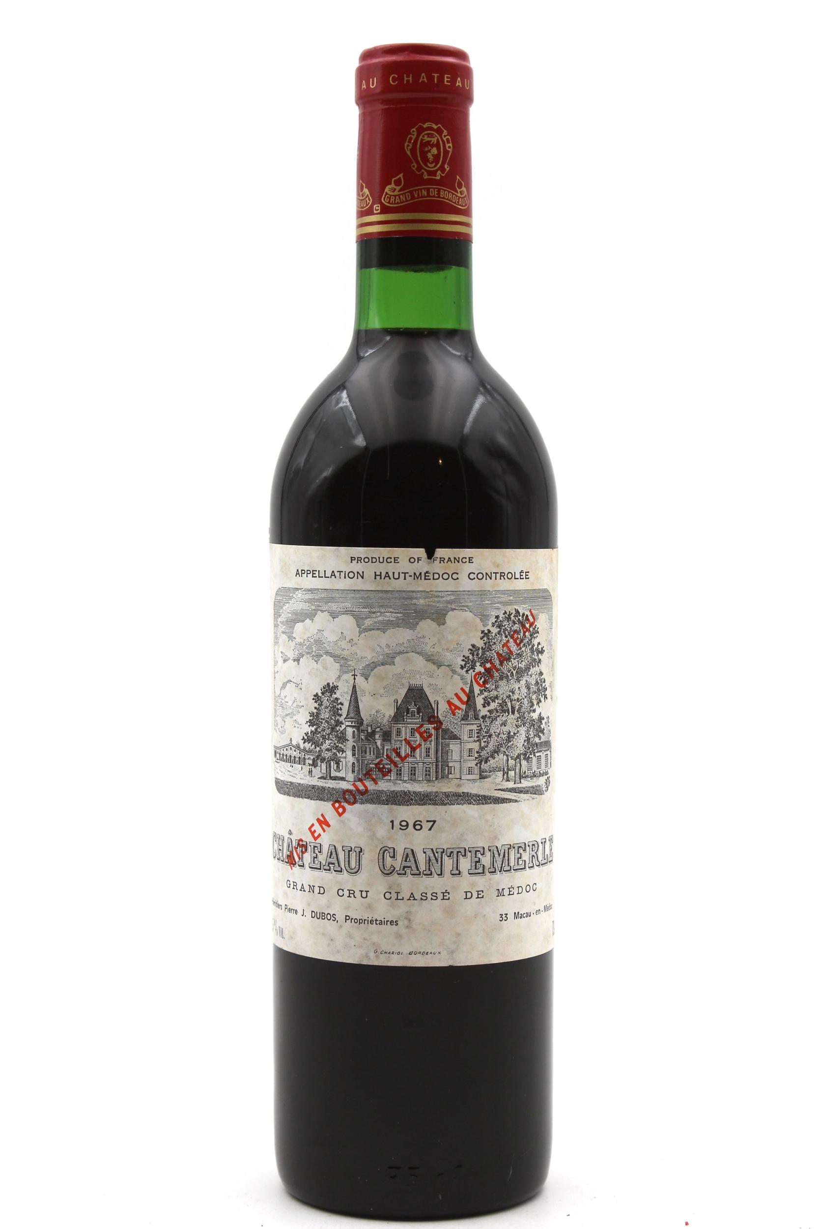 Château Cantemerle 1967  Rouge 75cl AOC Haut-Médoc