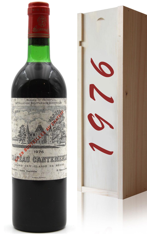 Coffret Château Cantemerle 1976  Rouge 75cl AOC Haut-Médoc