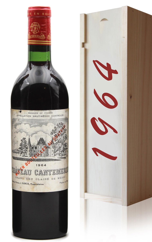 Coffret Château Cantemerle 1964  Rouge 75cl AOC Haut-Médoc
