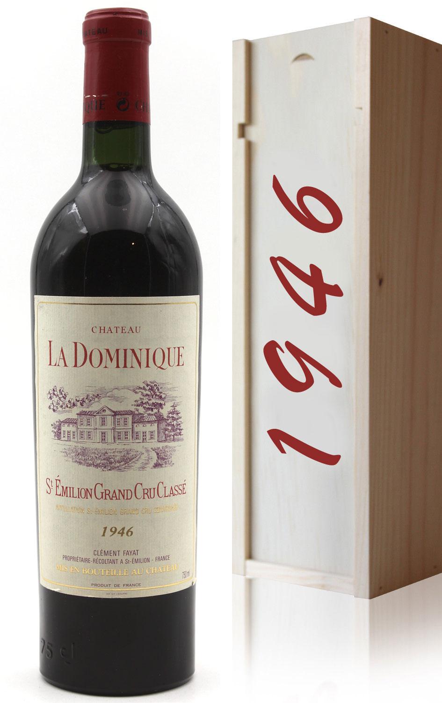 Coffret Château La Dominique 1946 Vin Rouge 75cl AOC Saint-Émilion