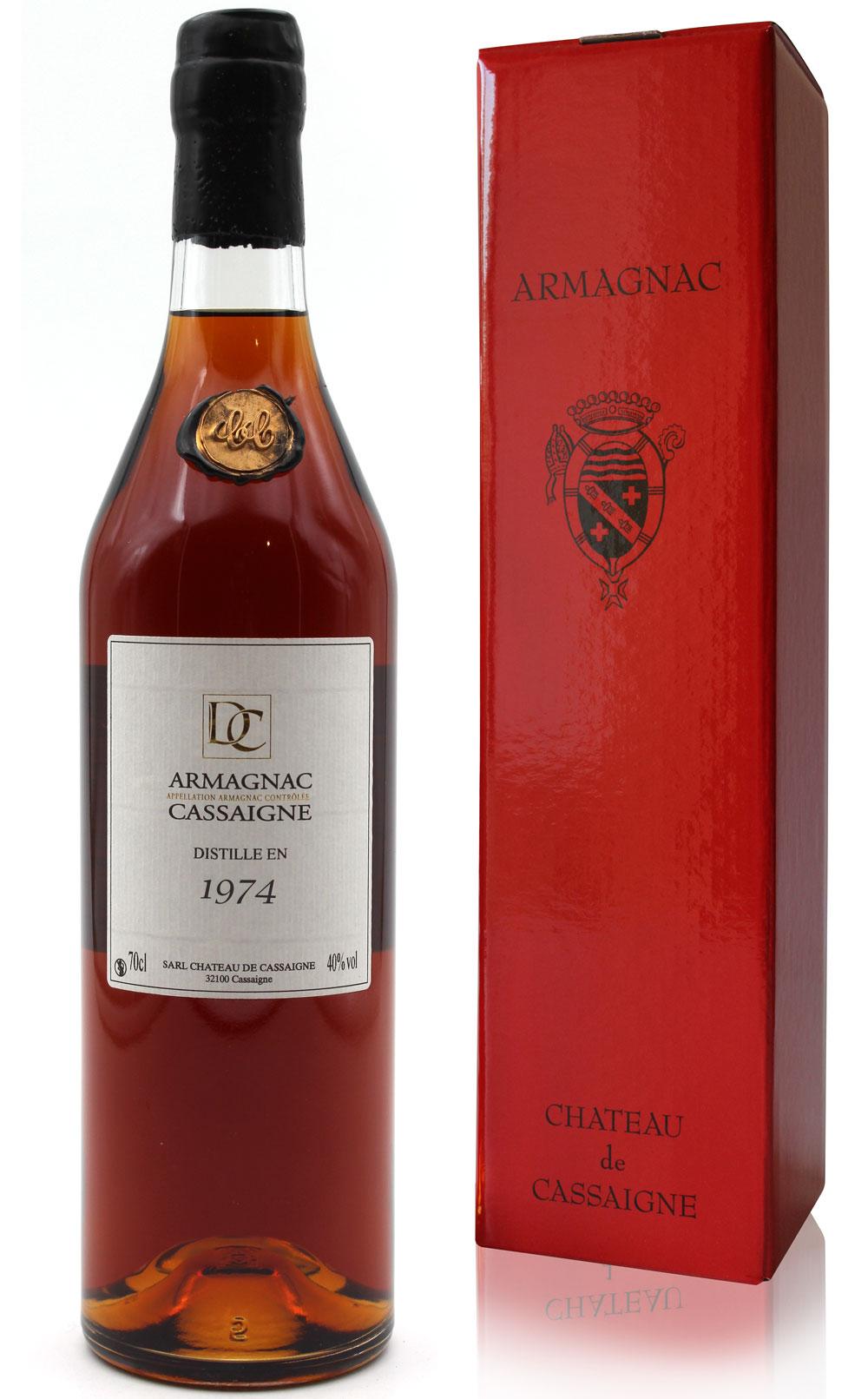 Armagnac Château De Cassaigne - Millésime 1974 - 70cl