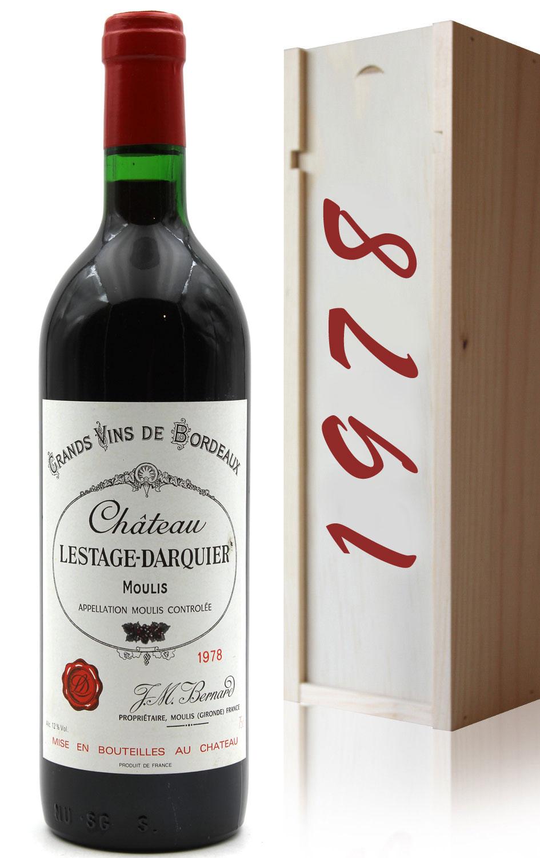 Coffret Château Lestage Darquier 1978 Rouge 75cl AOC Moulis