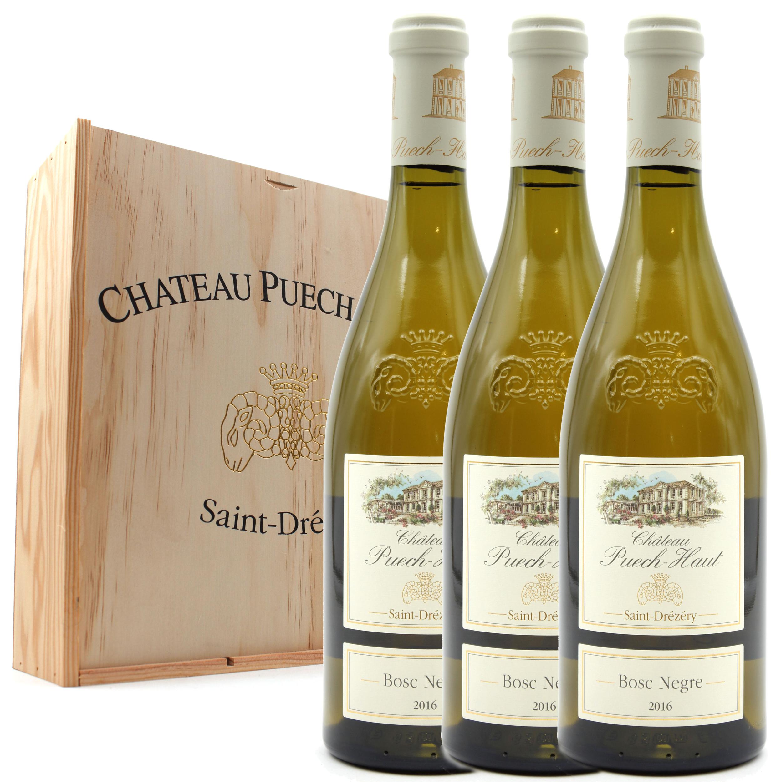 Coffret 3 bouteilles Bosc Negre 2016 de Vin Blanc - Château Puech Haut - Côteaux du Languedoc