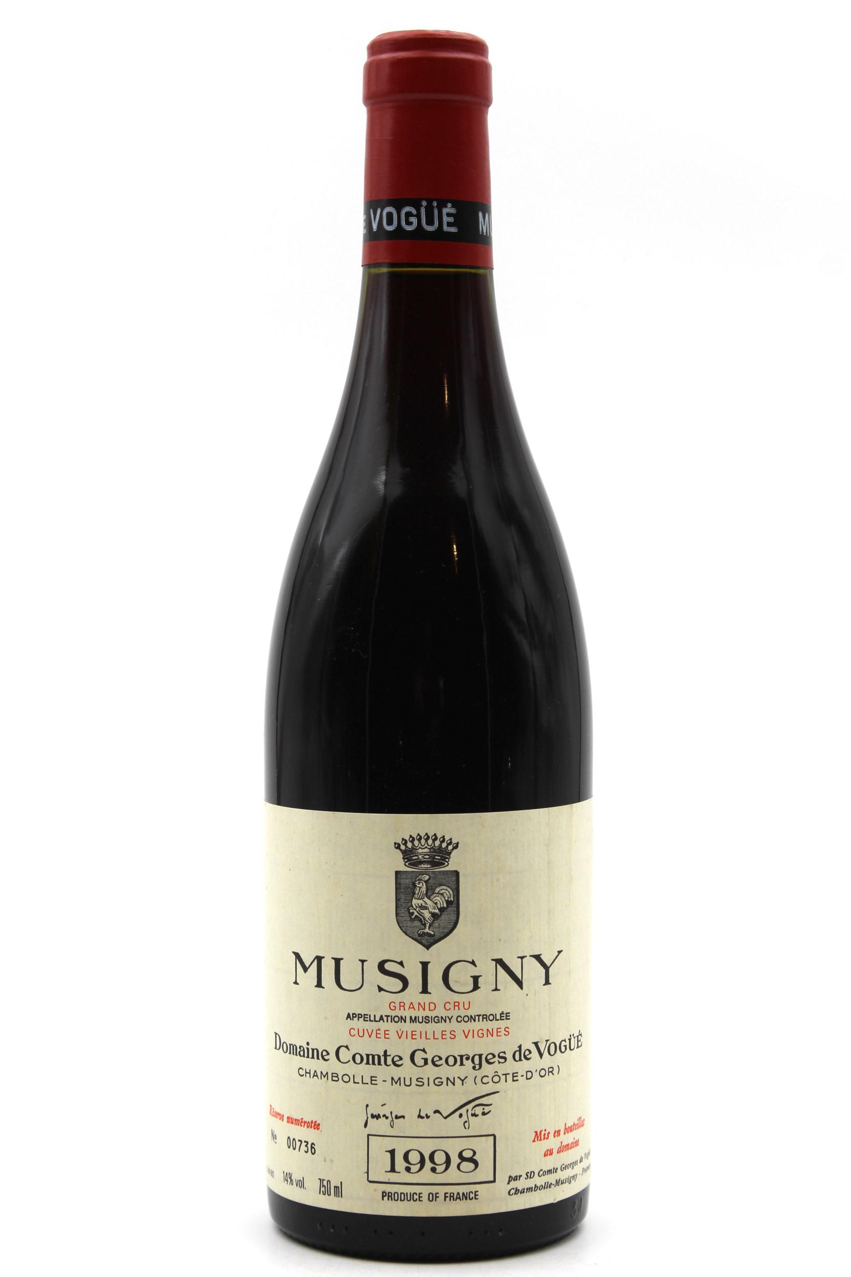 Musigny 1998 Grand Cru - Domaine Comte Georges de vogüé - Rouge - 75cl - AOC Bourgogne