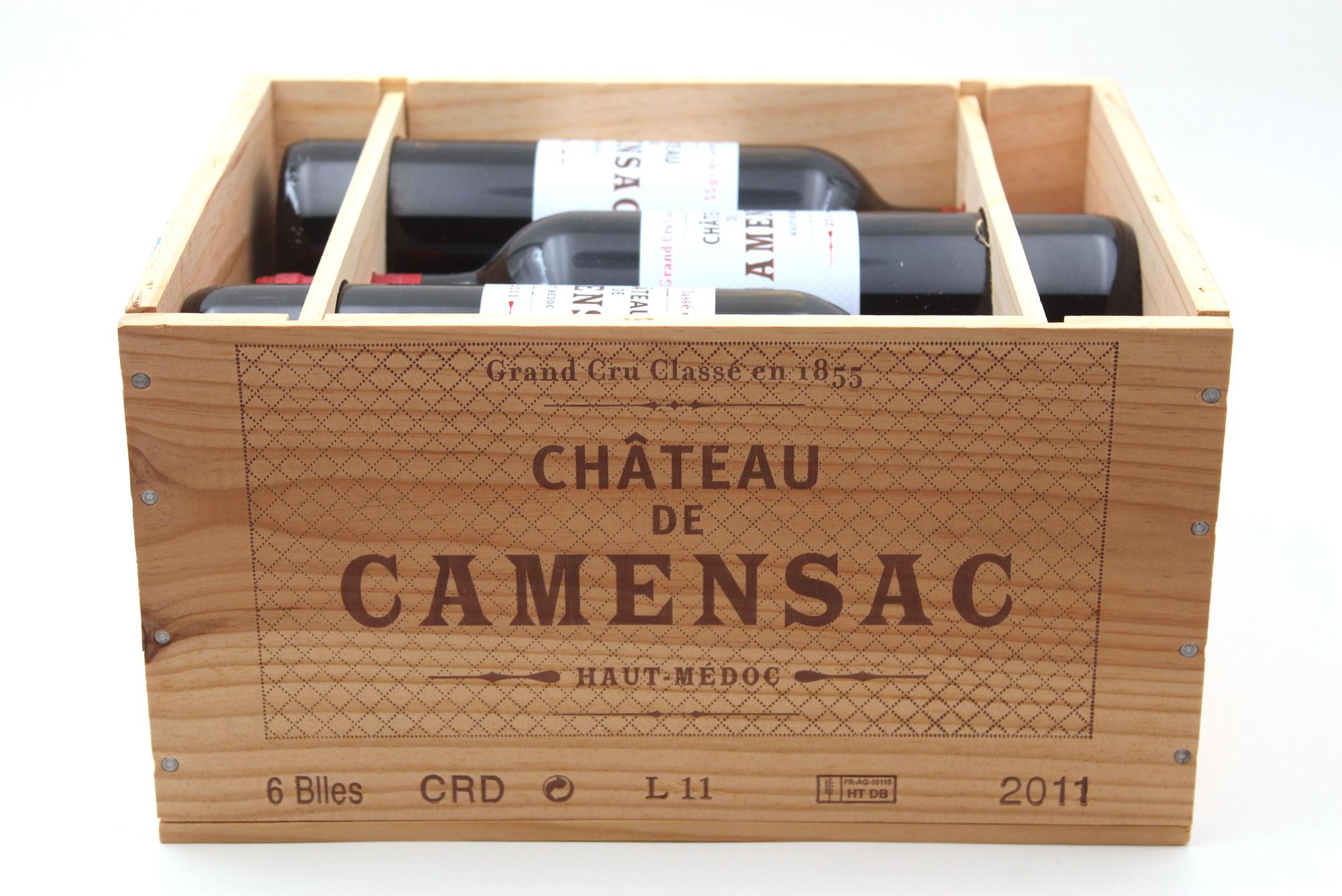 Caisse de 6 Bouteilles Château Camensac 2011 Rouge 75cl AOC Haut-Médoc
