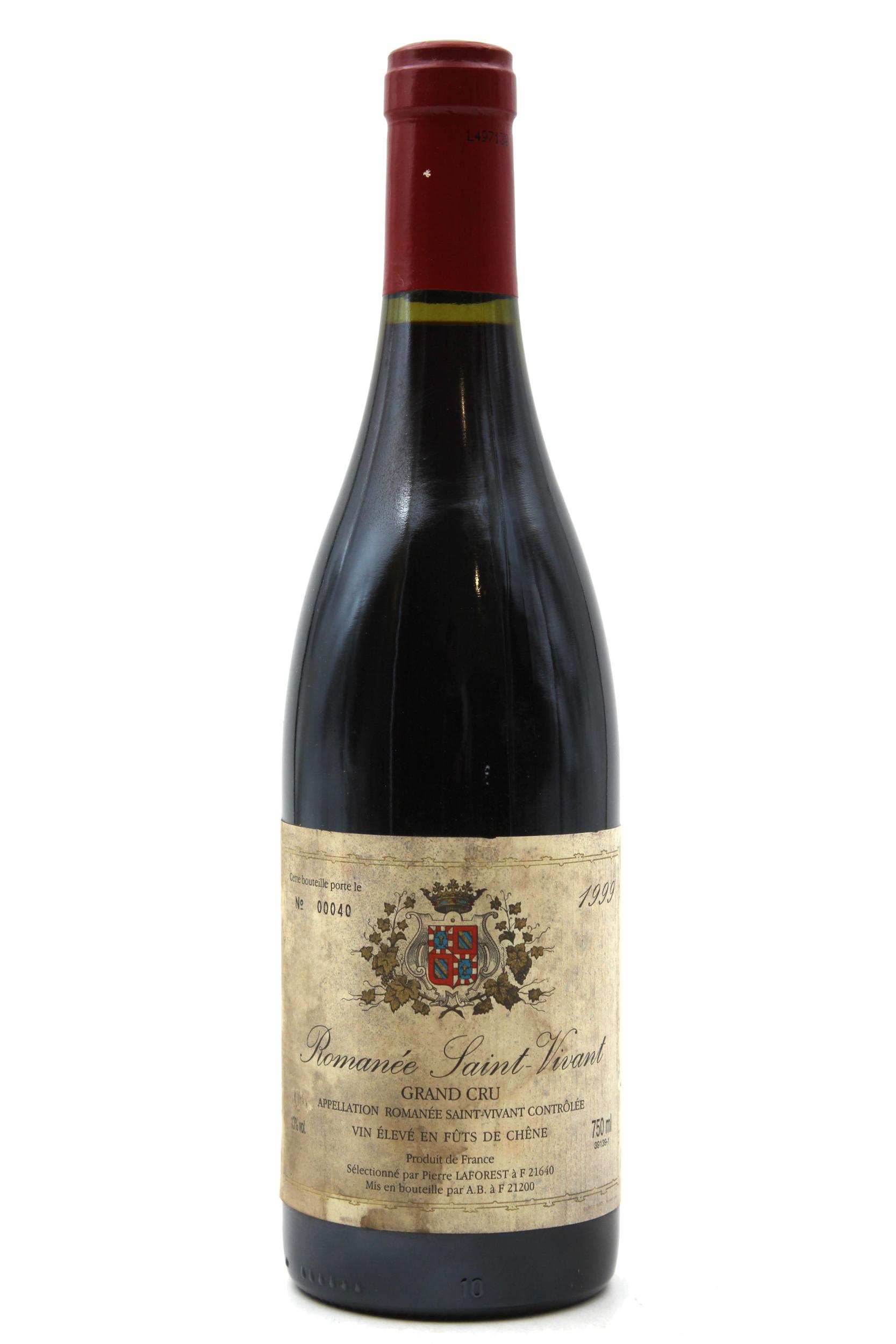 Romanée Saint-Vivant 1999 - Pierre Laforest - Vin Rouge - 75cl - Bourgogne