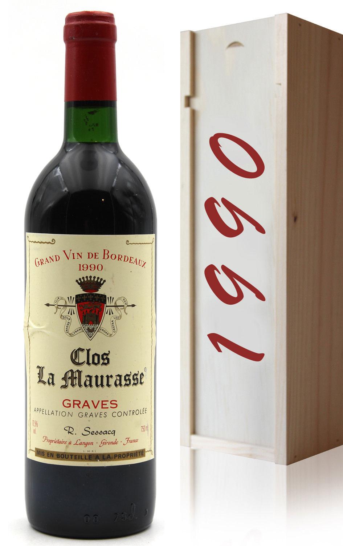 Coffret Château Clos La Maurasse 1990 Rouge 75cl AOC Graves