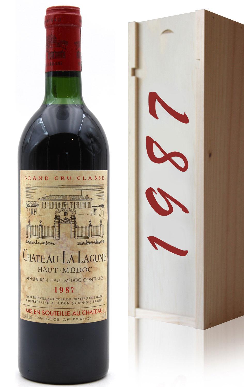 Coffret Château La Lagune 1987 Vin Rouge 75cl AOC Haut-Médoc