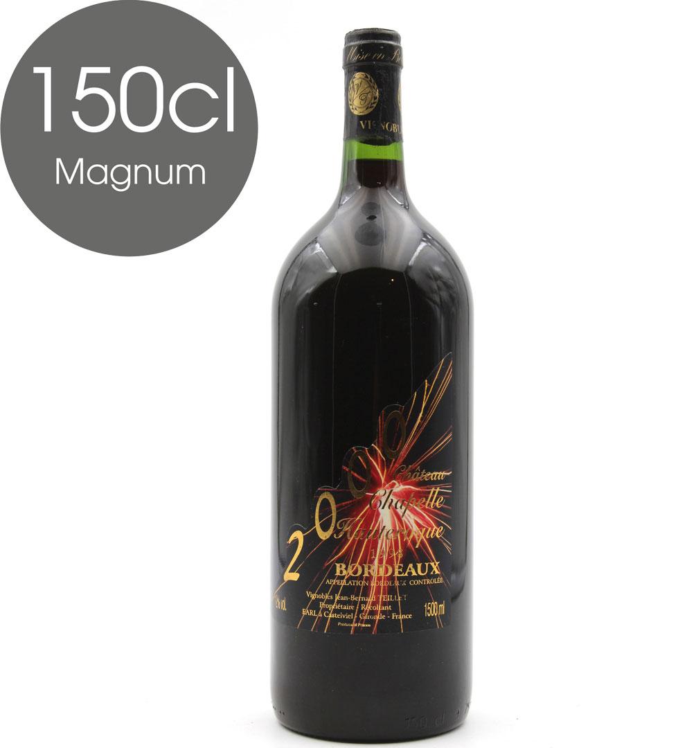 Château Chapelle Hauteroque 1998  - Nouvel An 2000 - Vin de Bordeaux - Magnum - 150cl
