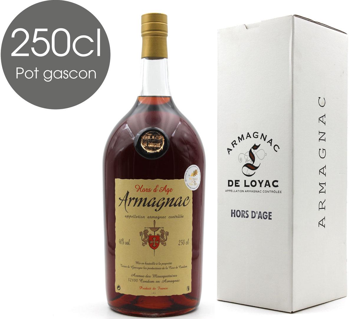 Armagnac De Loyac Hors d\'Age - Pot Gascon 2,5L