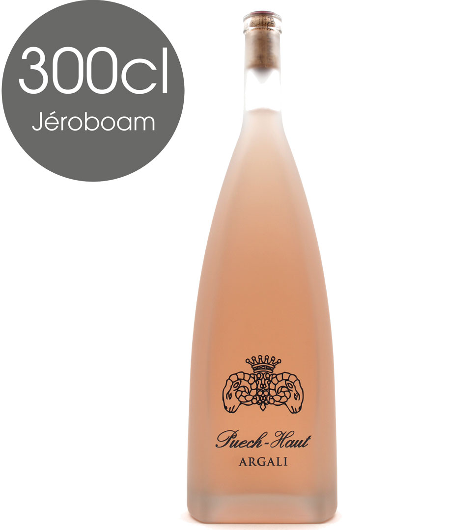Jéroboam Château Puech-Haut - Prestige Argali 2019 - Vin Rosé - Pays d\'Oc - 300CL