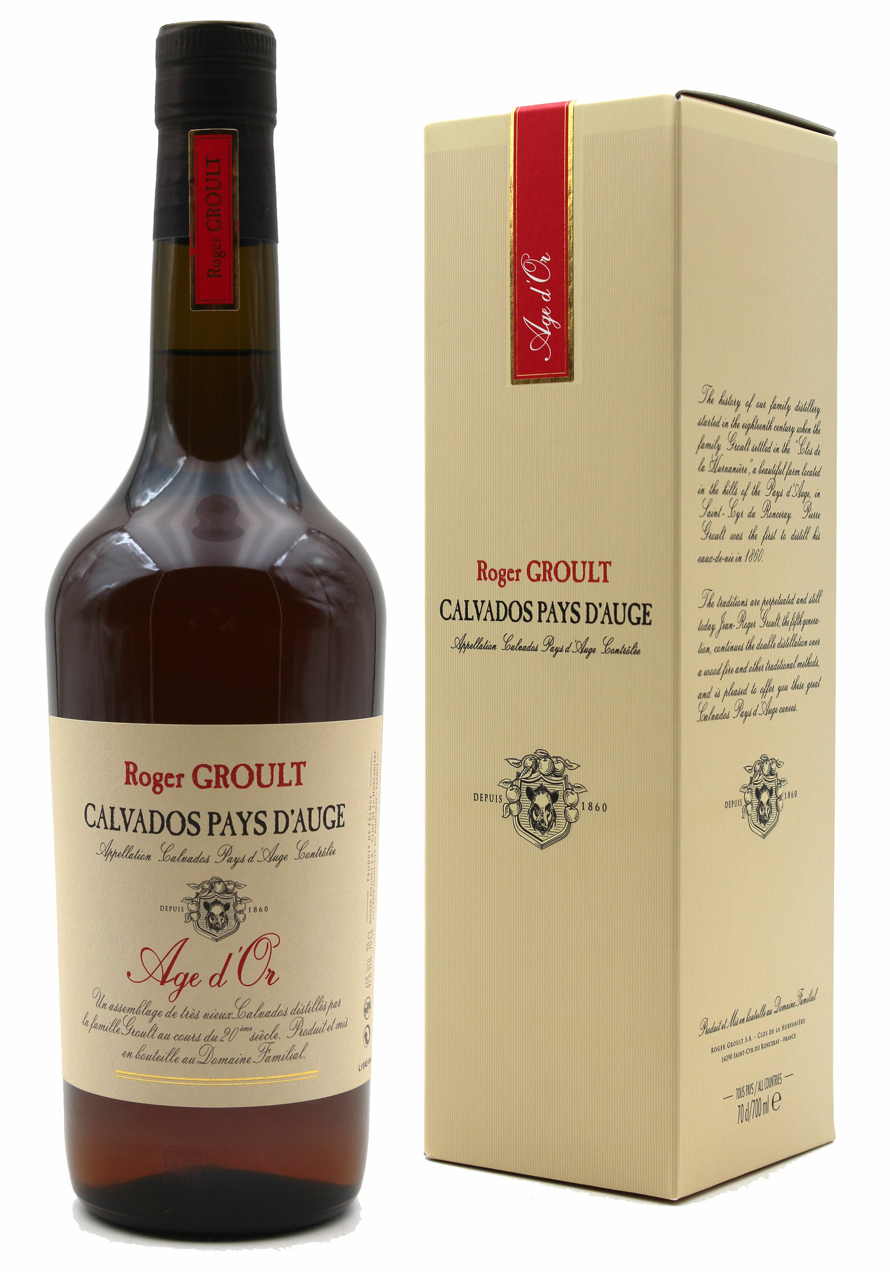 Calvados Age d\'Or - Roger Groult - 70CL - Pays D\'Auge