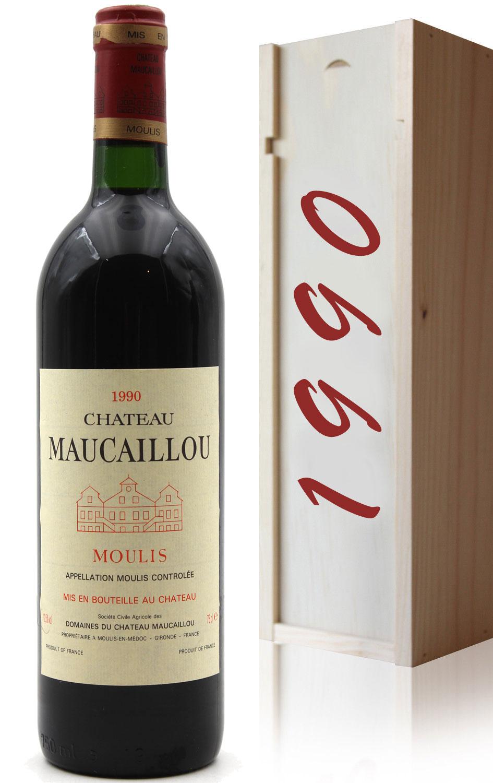 Coffret Château Maucaillou 1990 Rouge 75cl AOC Moulis
