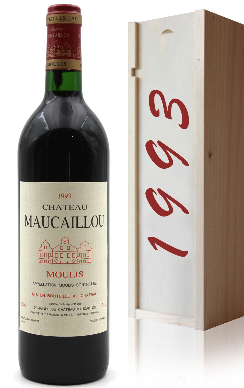 Coffret Château Maucaillou 1993 Rouge 75cl AOC Moulis