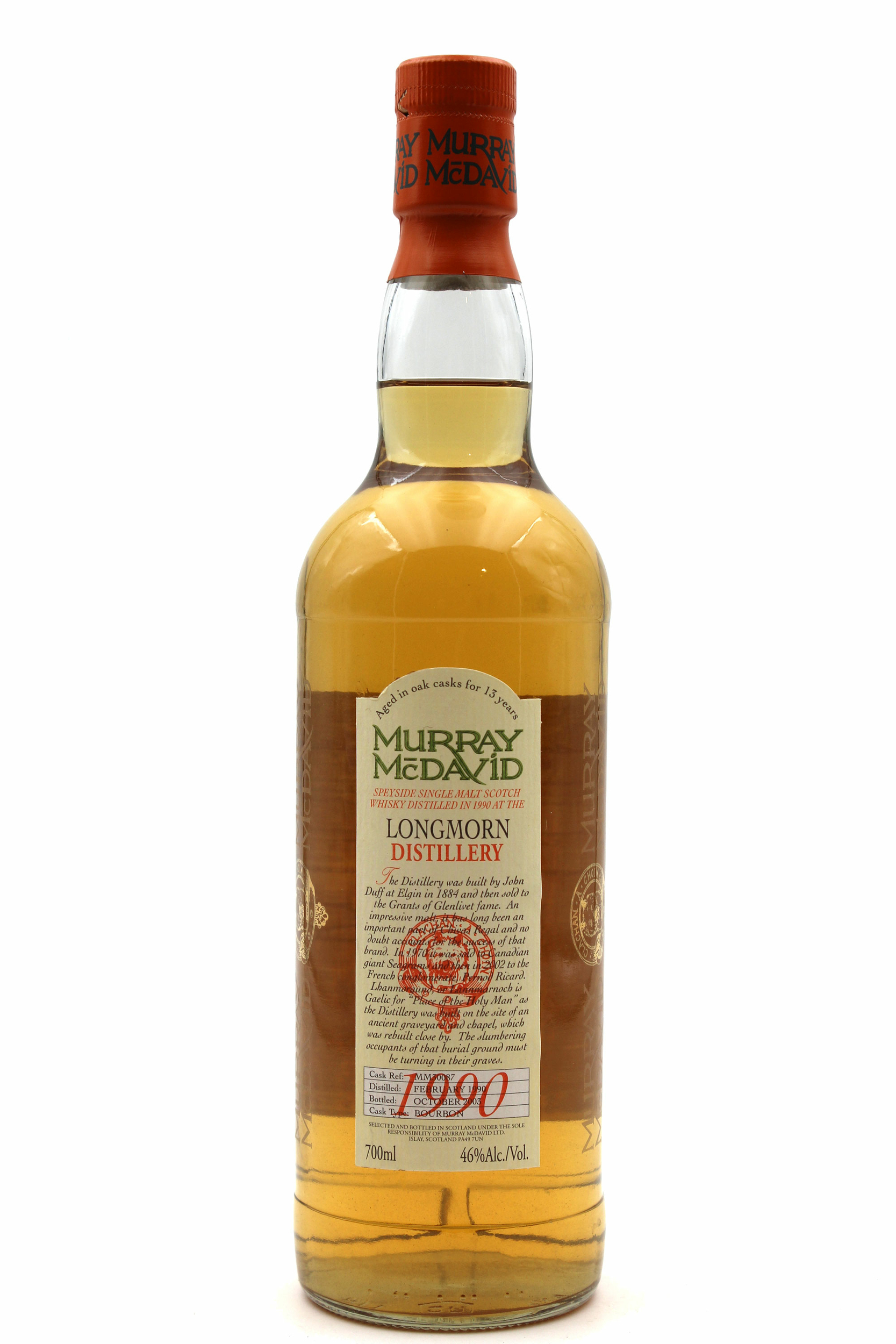 Whisky Longmorn 1990 Murray McDavid - 70cl