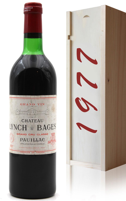 Coffret Château Lynch Bages 1977  Rouge 75cl AOC Pauillac