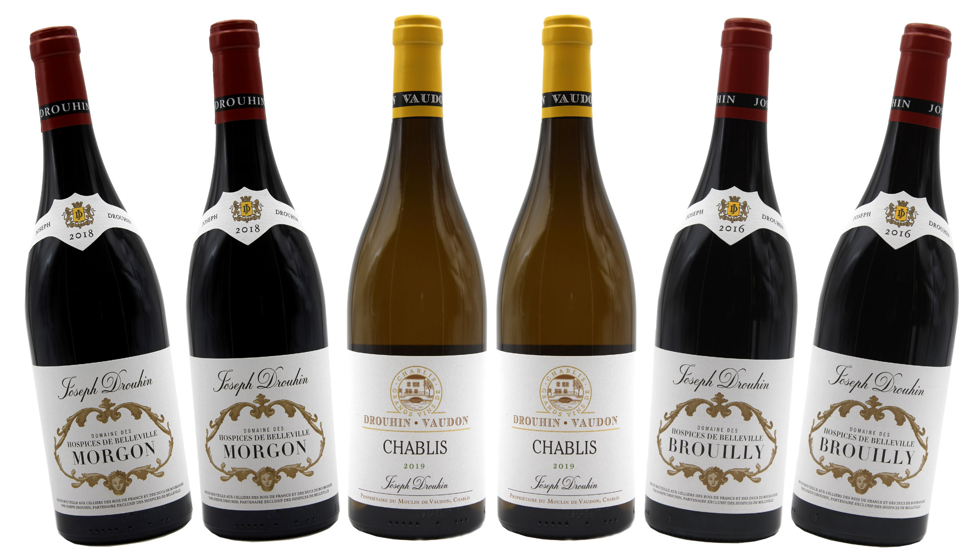 Coffret Découverte Drouhin Morgon, Brouilly & Chablis