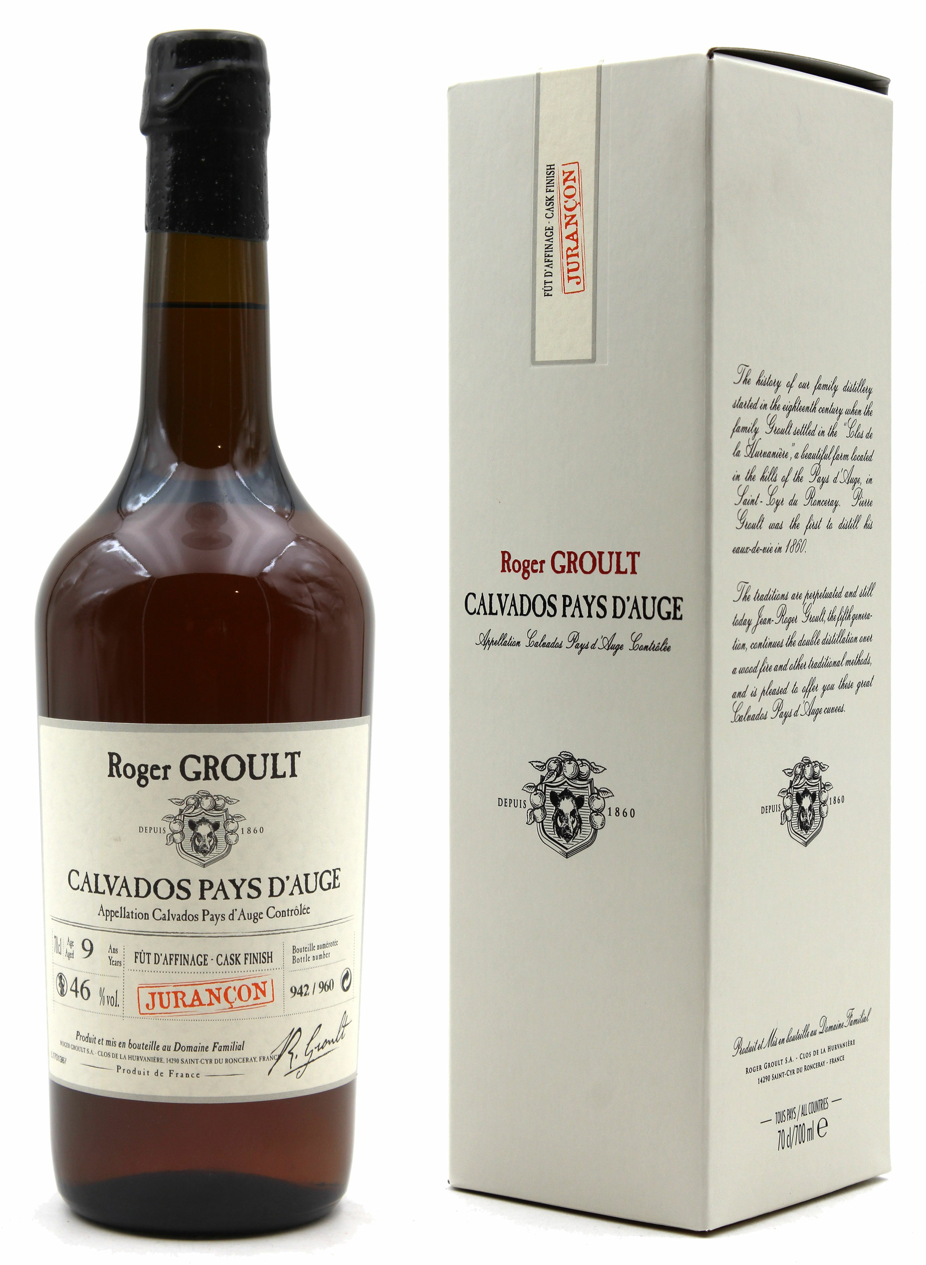 Calvados Roger Groult Finition Fûts de Jurançon - 70CL