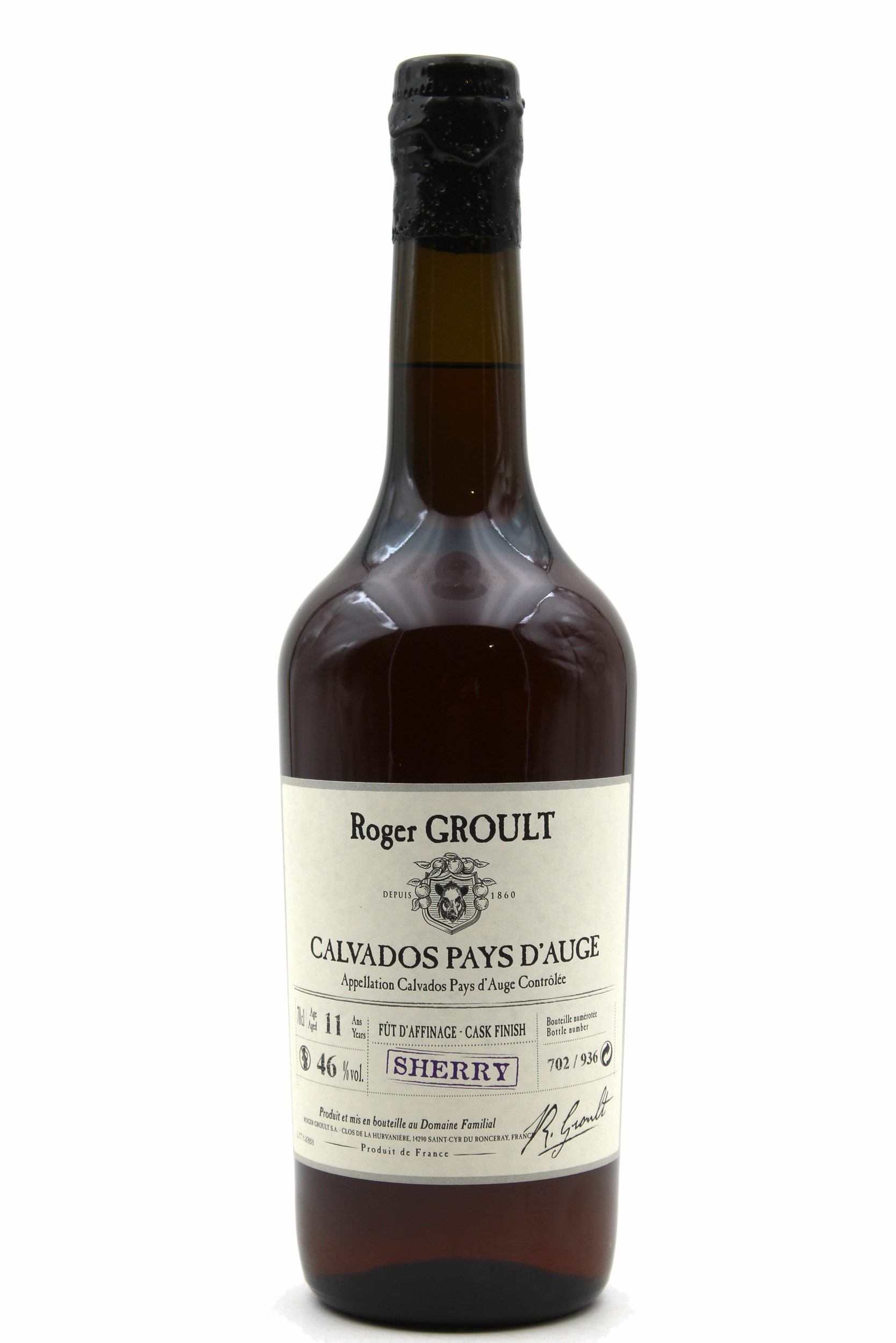 Calvados Roger Groult Finition Fûts de Sherry - 70CL