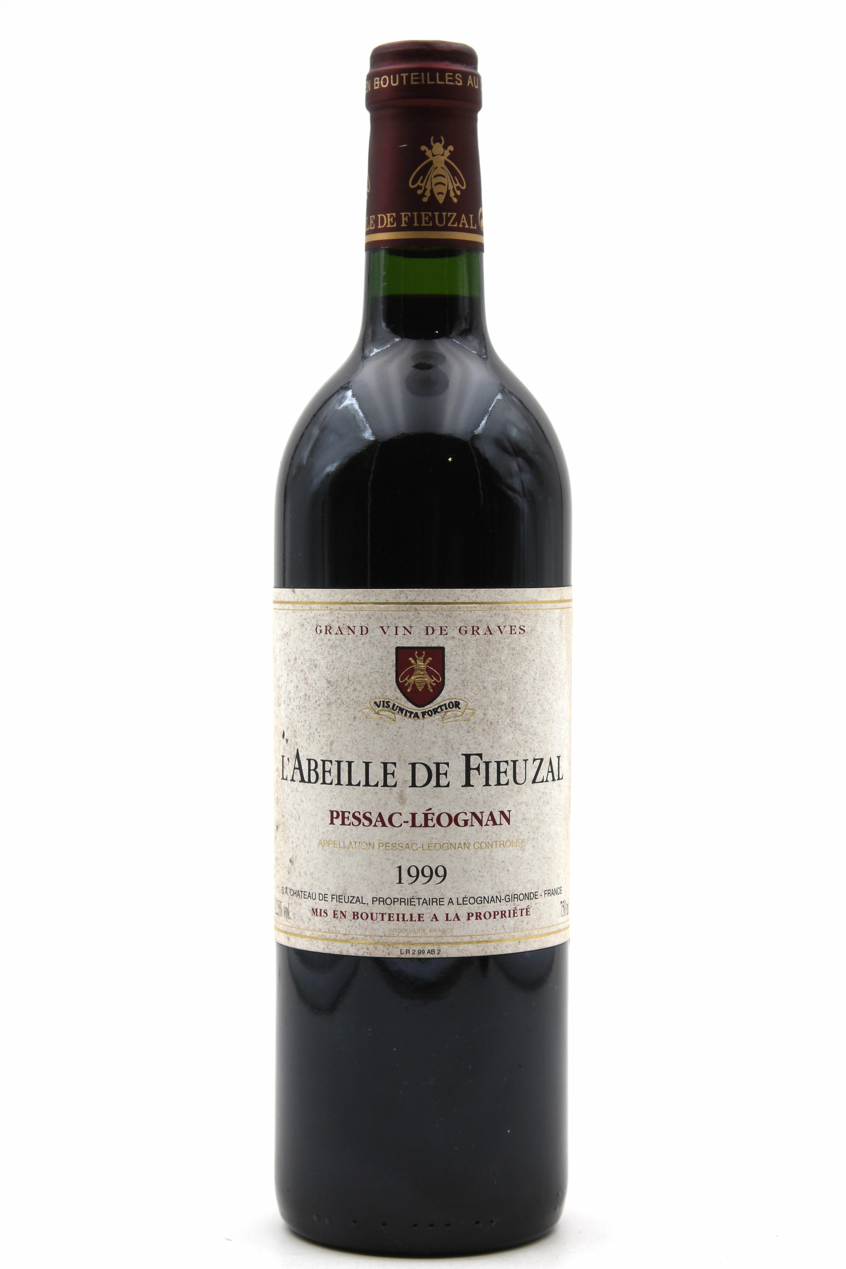 L\'Abeille de Fieuzal 1999 - Rouge - 75cl - AOC Pessac-Léognan