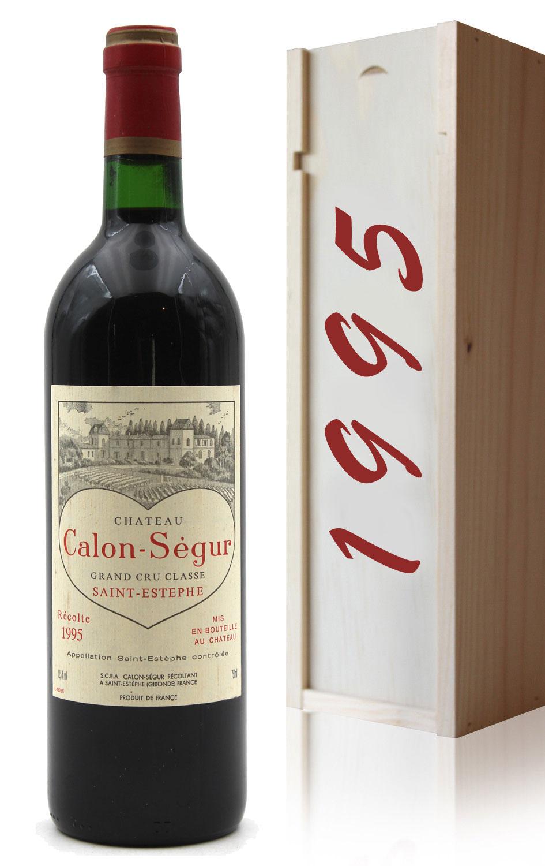 Coffret Château Calon Ségur 1995 - 75cl AOC Saint-Estephe