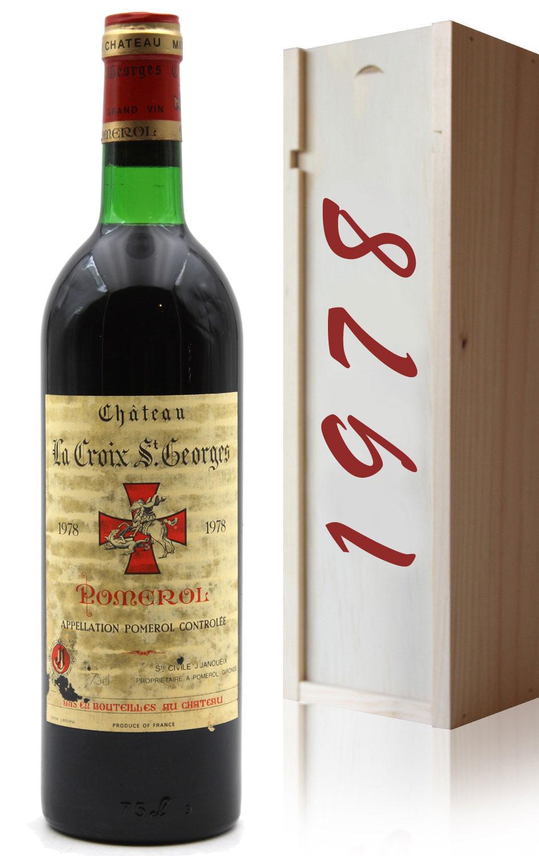 Coffret Château La Croix Saint Georges 1978 - Rouge - 75cl - AOC Pomerol