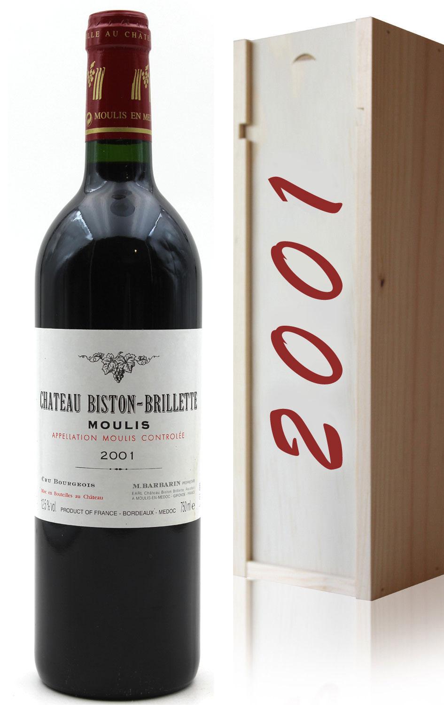 Coffret Château Biston-Brillette 2001 - Rouge - 75cl - AOC Moulis