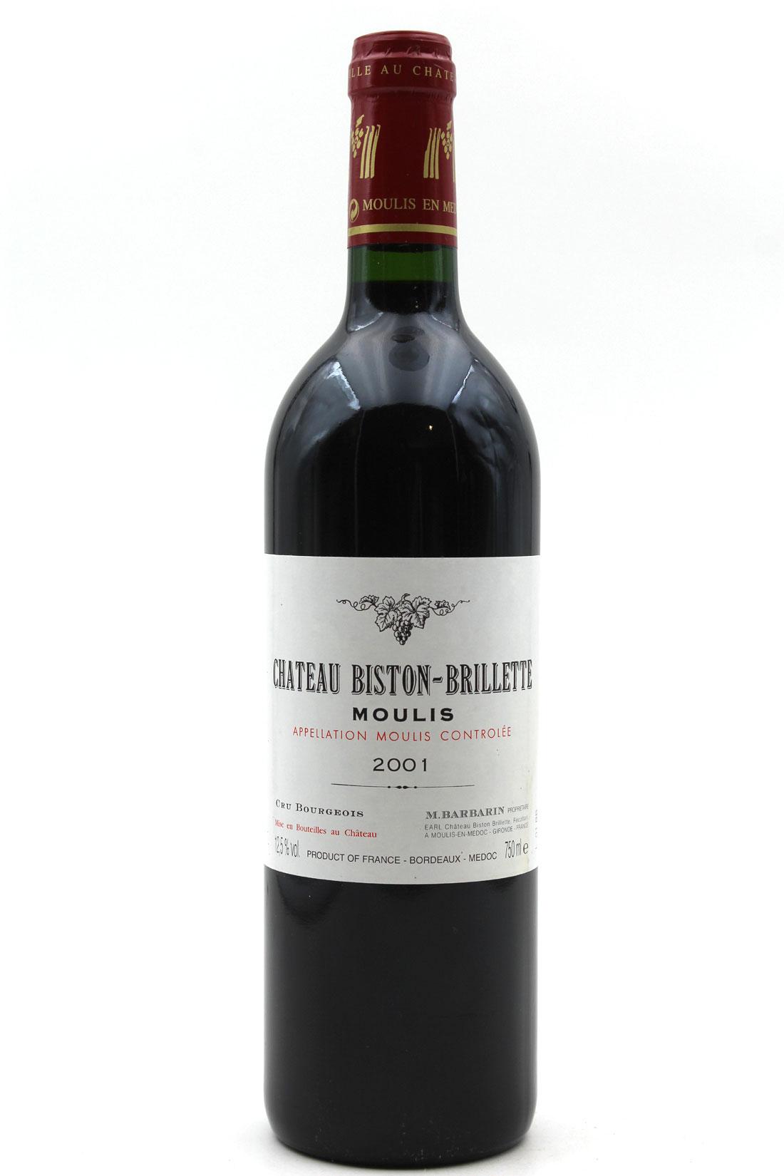 Château Biston-Brillette 2001 - Rouge - 75cl - AOC Moulis