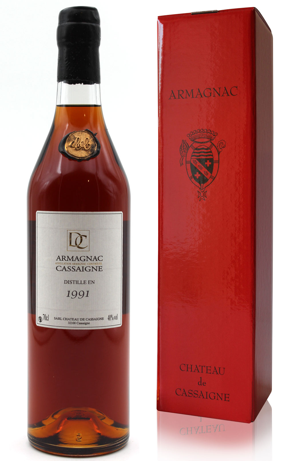 Armagnac Château De Cassaigne - Millésime 1991 - 70cl