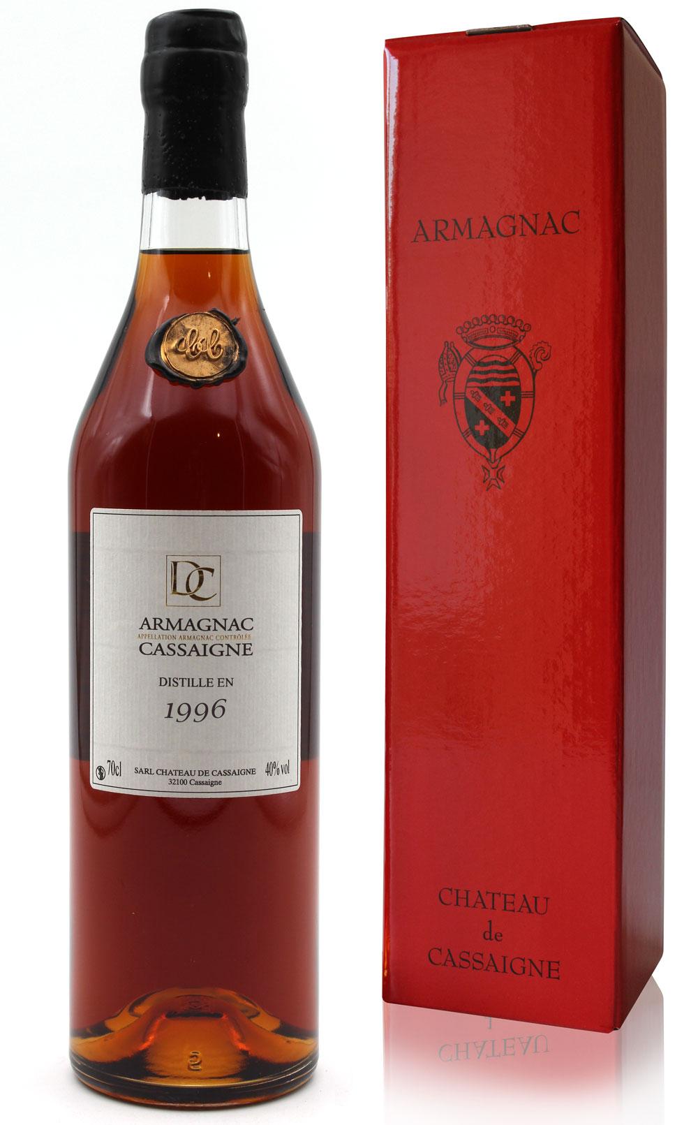 Armagnac Château De Cassaigne - Millésime 1996 - 70cl