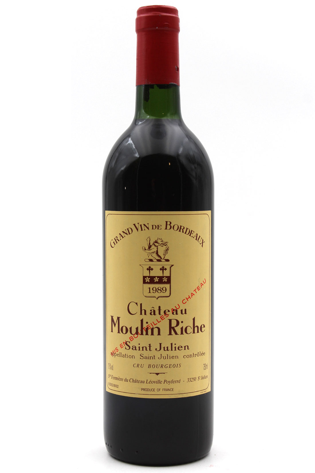 Château Moulin Riche 1989 - 75cl AOC Saint-Julien