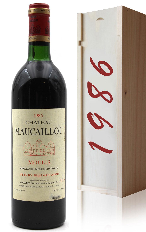 Coffret Château Maucaillou 1986 - 75cl AOC Moulis