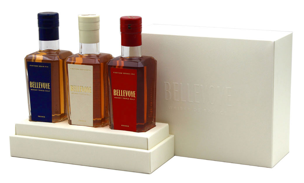 Bellevoye Coffret Tricolore Whisky 41% - 3x 20cl
