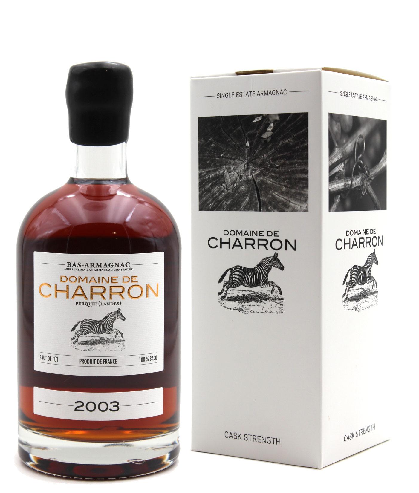 Bas Armagnac Domaine de Charron 2003  - 70cl
