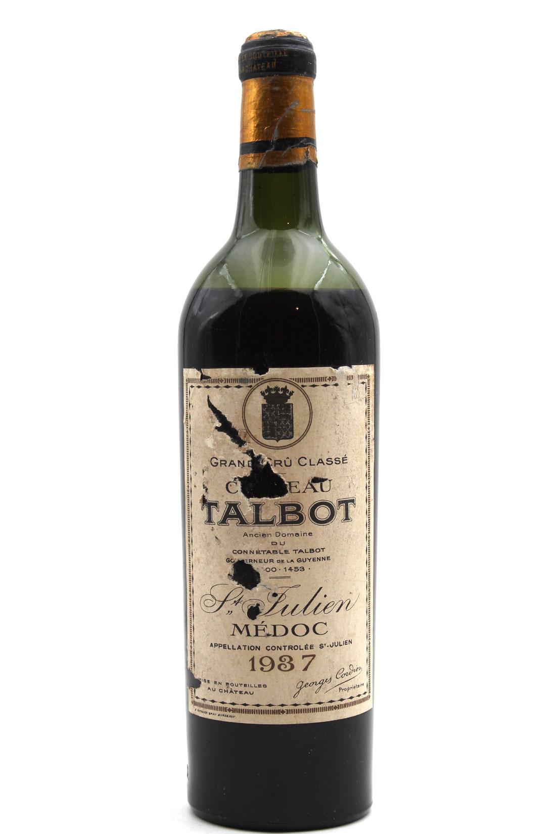Château Talbot 1937 - 75cl AOC Saint-Julien