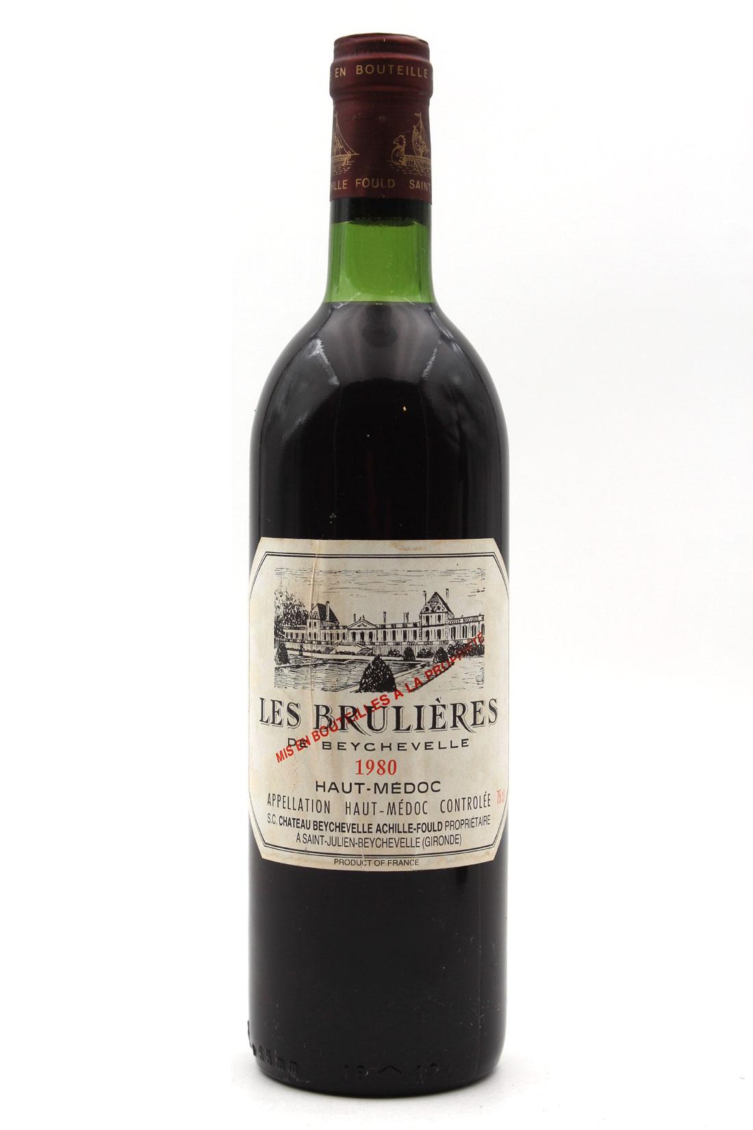 Les Brulières de Beychevelle 1980 - 75cl AOC Haut-Médoc