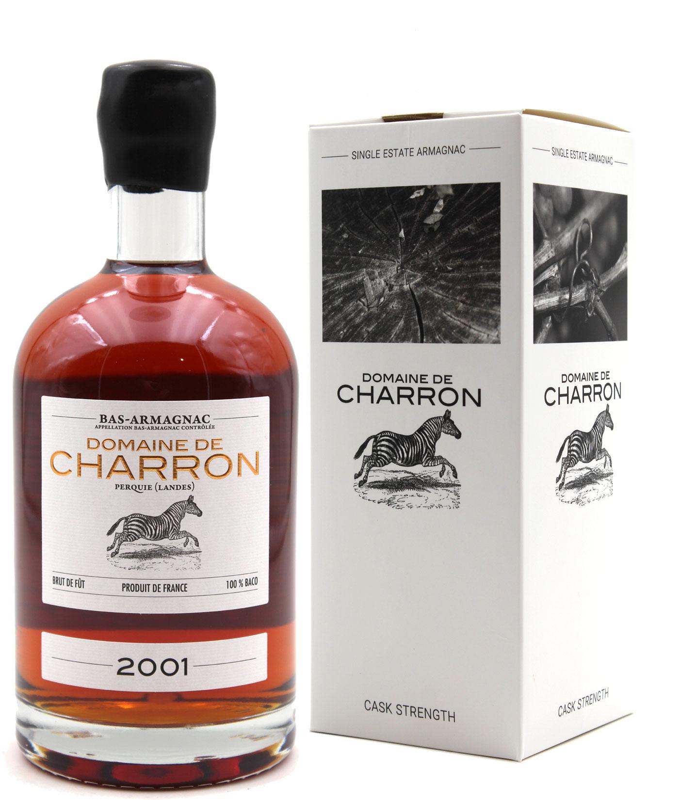 Bas Armagnac Domaine de Charron 2001  - 70cl